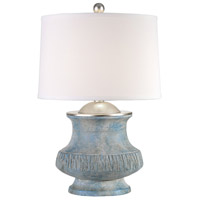 Gavello 26 inch 150 watt Aged Blue Table Lamp Portable Light