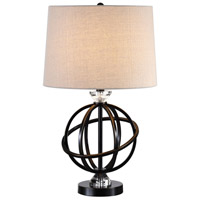 Armilla 25 inch 150 watt Gloss Black with Gold Table Lamp Portable Light