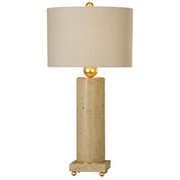 Uttermost 27799-1 Krisel 33 inch 150 watt Concrete and Metallic Gold Leaf Table Lamp Portable Light
