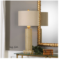 Uttermost 27799-1 Krisel 33 inch 150 watt Concrete and Metallic Gold Leaf Table Lamp Portable Light alternative photo thumbnail