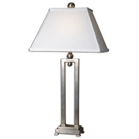 Conrad 29 inch 100 watt Brushed Aluminum Table Lamp Portable Light