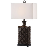 Uttermost 27803-1 Bertoia 29 inch 150 watt Black Patterned Table Lamp Portable Light