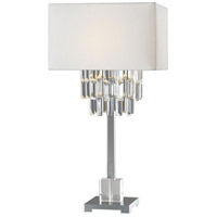 Uttermost 27805-1 Resana 28 inch 150 watt Polished Nickel Table Lamp Portable Light thumb