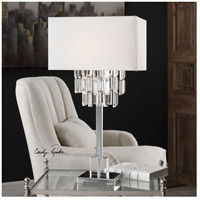 Uttermost 27805-1 Resana 28 inch 150 watt Polished Nickel Table Lamp Portable Light 27805-1_Lifestyle.jpg thumb