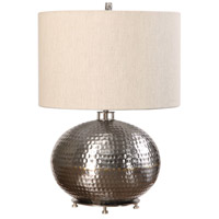Uttermost 27821-1 Metis 22 inch 150 watt Hammered Steel Table Lamp Portable Light 27821-1_A.jpg thumb