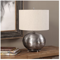 Uttermost 27821-1 Metis 22 inch 150 watt Hammered Steel Table Lamp Portable Light 27821-1_A1.jpg thumb