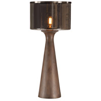 Uttermost 27842-1 Fernando 27 inch 60 watt Rustic Walnut Stain and Dark Bronze Table Lamp Portable Light