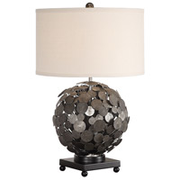 Uttermost 27844-1 Callisto 27 inch 150 watt Metallic Silver with Charcoal Wash Table Lamp Portable Light