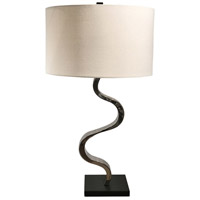 Uttermost 27858-1 Fialla 31 inch 150 watt Polished Nickel and Matte Black Table Lamp Portable Light