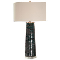 Uttermost 27860 Chamila 32 inch 150 watt Aged Teal Glaze with Black Distressing Table Lamp Portable Light