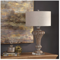 Uttermost 27863 Treneece 32 inch 150 watt Aged Pecan with Antique Gray Wash Table Lamp Portable Light 27863_A1.jpg thumb