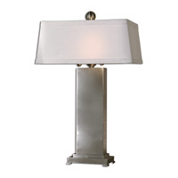Uttermost Metal Contempo Table Lamp in Satin Nickel 27874