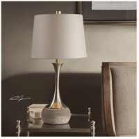 Uttermost 27875-1 Niah 28 inch 150 watt Brushed Nickel and Natural Concrete Table Lamp Portable Light 27875-1_Lifestyle.jpg thumb