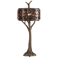 Uttermost 27877 Tremula 41 inch 150 watt Antiqued Metallic Gold and Antique Rustic Bronze Table Lamp Portable Light