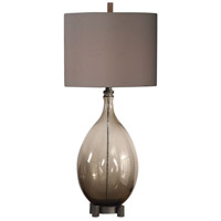 Uttermost 27878 Saimara 42 inch 150 watt Charcoal Smoke Glass Table Lamp Portable Light