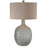 Uttermost 27879-1 Oceaonna 30 inch 150 watt Aged White with Blue Green Highlights Table Lamp Portable Light