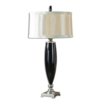 Uttermost Garvey Table Lamp in Black Mouth Blown Glass 27896