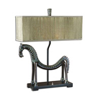 Uttermost Tamil Horse Table Table Lamp in Heavily Antiqued Gold Leaf 27907-1