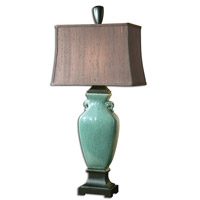 Uttermost Hastin Table Lamp in Crackled Turquoise 27912-1