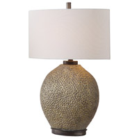 Uttermost 27915-1 Aker 28 inch 150 watt Antiqued Golden Bronze and Dark Bronze Table Lamp Portable Light