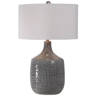 Uttermost 27920-1 Felipe 29 inch 150 watt Distressed Gray Glaze and Brushed Nickel Table Lamp Portable Light