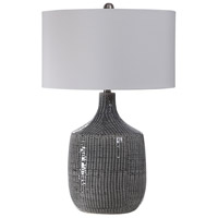 Uttermost 27920-1 Felipe 29 inch 150 watt Distressed Gray Glaze and Brushed Nickel Table Lamp Portable Light alternative photo thumbnail
