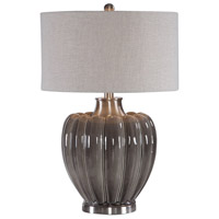 Adler 29 inch 150 watt Smoky Gray Glaze and Brushed Nickel Table Lamp Portable Light