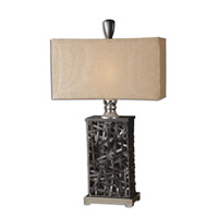 Uttermost Alita Table Table Lamp in Rustic Black Woven Metal Strips 27922-1