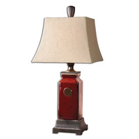 Uttermost Reggie Table Table Lamp in Distressed Deep Red Glaze 27937