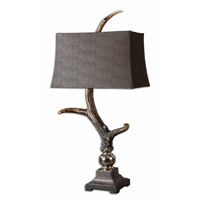 Uttermost Stag Horn Dark Shade Table Lamp in Burnished Bone Ivory 27960 photo thumbnail