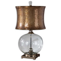 Uttermost Marcel Copper Table Lamp in Clear Glass Body 27989-1