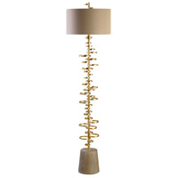 Uttermost 28094 Lostine 70 inch 150 watt Gold Floor Lamp Portable Light