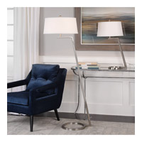 Uttermost 28108 Ordino 63 inch 150 watt Brushed Nickel Floor Lamp Portable Light 28108-A.jpg thumb