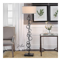 Uttermost 28139 Anillo 67 inch 150 watt Aged Black Iron Floor Lamp Portable Light