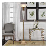 Credera 73 inch 150 watt Plated Brushed Brass Floor Lamp Portable Light