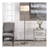 Velence 68 inch 150 watt Plated Brushed Nickel Floor Lamp Portable Light