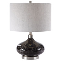 Uttermost 28206-1 Ampara 22 inch 150 watt Deep Charcoal Table Lamp Portable Light