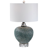 Uttermost 28208-1 Almera 26 inch 150 watt Dark Teal Table Lamp Portable Light