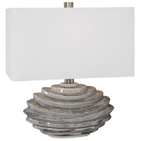 Uttermost 28210-1 Talucah 22 inch 150 watt Gray Table Lamp Portable Light