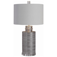 Uttermost 28263-1 Anitra 29 inch 150 watt Silver Leaf with Brushed Nickel and Crystal Table Lamp Portable Light