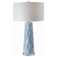 Uttermost 28269 Brienne 31 inch 150 watt Light Blue Table Lamp Portable Light