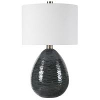 Uttermost 28272-1 Arikara 28 inch 150 watt Dark Teal Table Lamp Portable Light