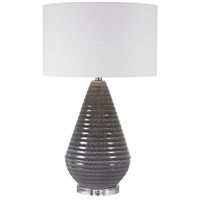 Uttermost 28273 Carden 28 inch 150 watt Smoke Gray Table Lamp Portable Light