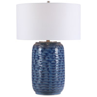 Uttermost 28274-1 Sedna 27 inch 150 watt Blue Table Lamp Portable Light