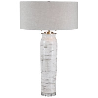 Uttermost 28275 Lenta 30 inch 60 watt White Table Lamp Portable Light