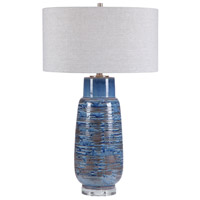 Uttermost 28276 Magellan 32 inch 150 watt Blue Table Lamp Portable Light