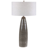 Uttermost 28280 Cosmo 34 inch 150 watt Charcoal Table Lamp Portable Light