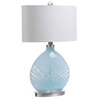 Uttermost 28281-1 Aquata 22 inch 100 watt Glass Table Lamp Portable Light