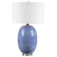 Uttermost 28286-1 Westerly 31 inch 150 watt Blue Table Lamp Portable Light