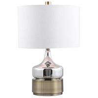 Uttermost 28337-1 Como 23 inch 150 watt Chrome Table Lamp Portable Light